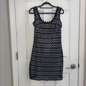 Lilly Pulitzer shift dress navy and white